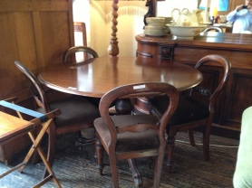 Antique table and chairs 14th May