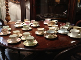 A large collection of teacups. 25th May